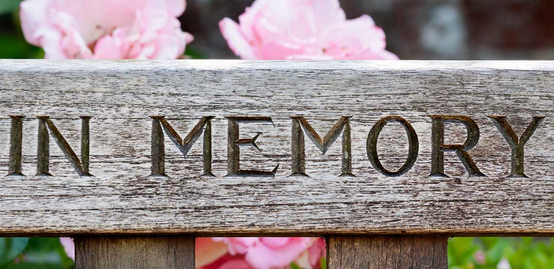 An sign that says In Memory